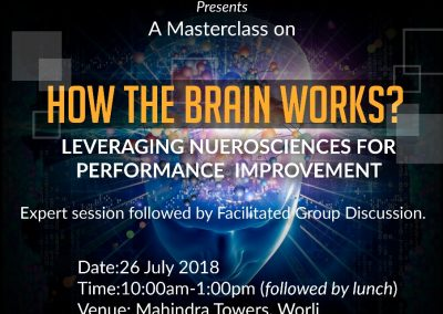 How the Brain Works? Leveraging Neurosciences for Performance Improvement - 26 July 2018