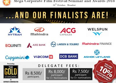 Mega Corporate Film Festival Seminar and Awards 2018