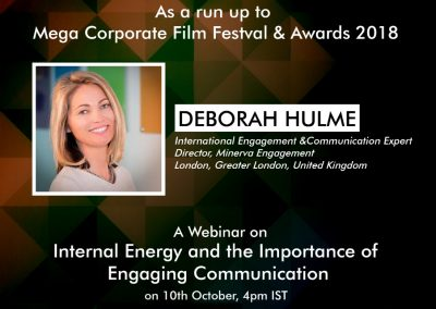 Webinar by International Speaker Deborah Hulme