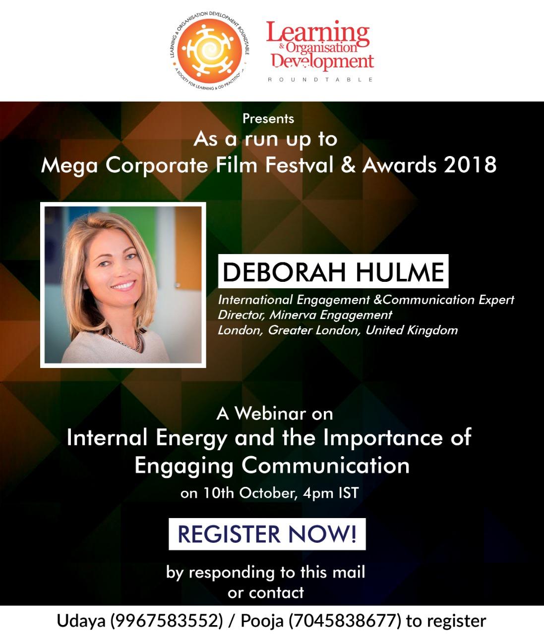 Webinar by International Speaker Deborah Hulme